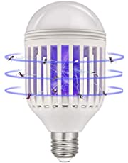 Bug Zapper Light Bulb, Seenlast 2 in 1 Mosquito Killer Lamp Insect Zappers LED Electric Fly Killer Lamp fits E26 Light Socket for Indoor and Outdoor