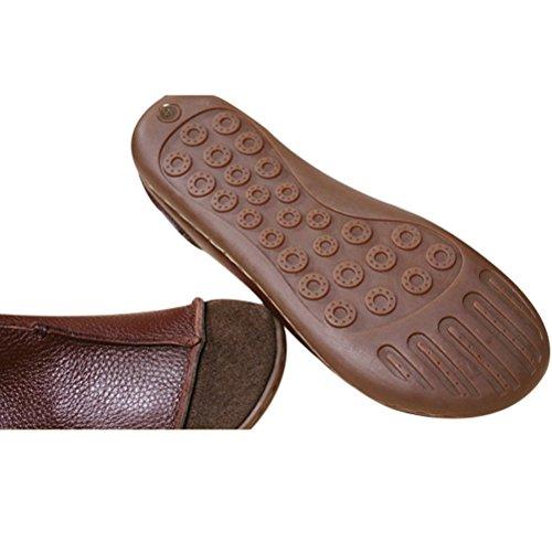 MatchLife - Bailarinas de Piel para mujer Beige beige Marrón - marrón