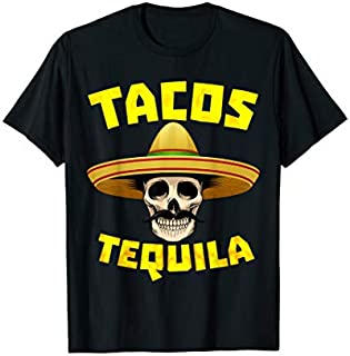 Tacos And Tequila Funny Drinking Gift for Mexican Food Lover T-shirt | Size S - 5XL