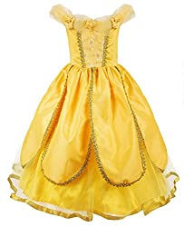 JerrisApparel Princess Belle Costume Deluxe Party Fancy...