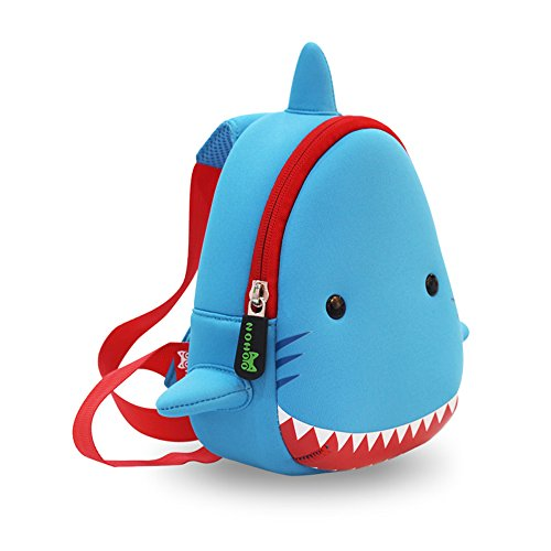 YISIBO Waterproof Kids Chest 3D Zoo Shark Cartoon School Sidesick Bags (Sharks For Kids)
