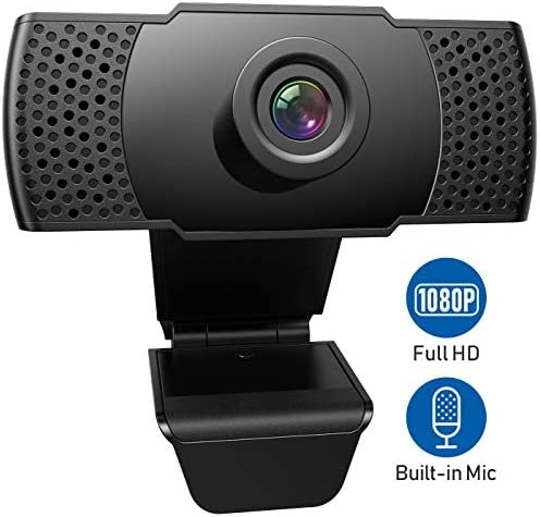 1080P WebcamMicrophone FRIEET HD Streaming Web Camera Plug and Play Wide Angle USB Camera CompatiblePC Computer Laptop Mac Zoom Skype Meeting FaceTime Video Calling Conferencing Games