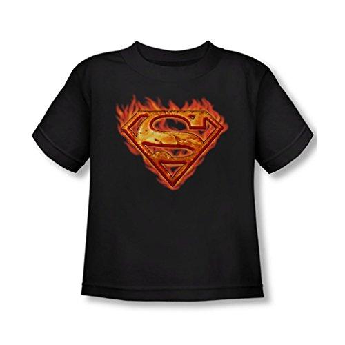 Superman - Hot Metal Shield Toddler T-Shirt In Black, 2T, (Hot Girl In Superman Shirt)