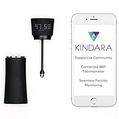 Wink by Kindara - App Integrated Fertility Thermometer - Digitally Track Your Fertility and Ovulation (with Android or IOS App)