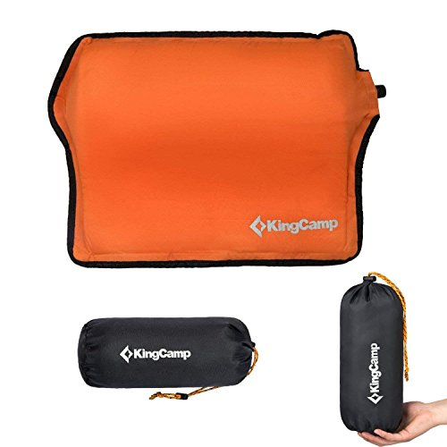 KingCamp Inflatable Camping Pillow, Ultralight Self Inflating Back Cushion Pillow Neck & Lumbar Support for Car Office Chair, Travel, Backpacking, Outdoor Hiking by KingCamp