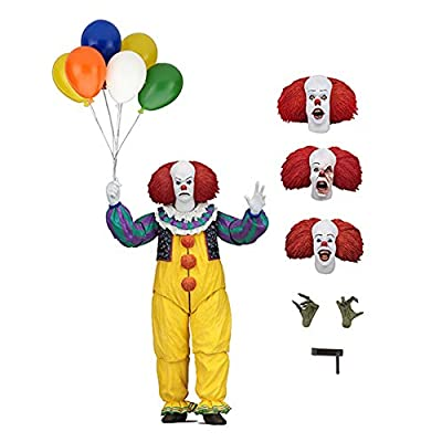 "NECA - IT - 7"" Scale Action Figure - Ultimate Pennywise (1990): Toys & Games"