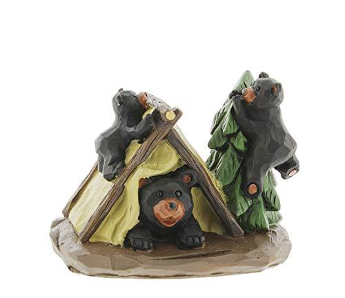 Lipco RV Camping Black Bears Figurine, 3.5