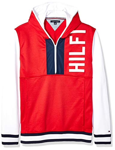 - Tommy Hilfiger Men's Adaptive Hoodie Sweatshirt with Magnetic Zipper, Apple Red, Large