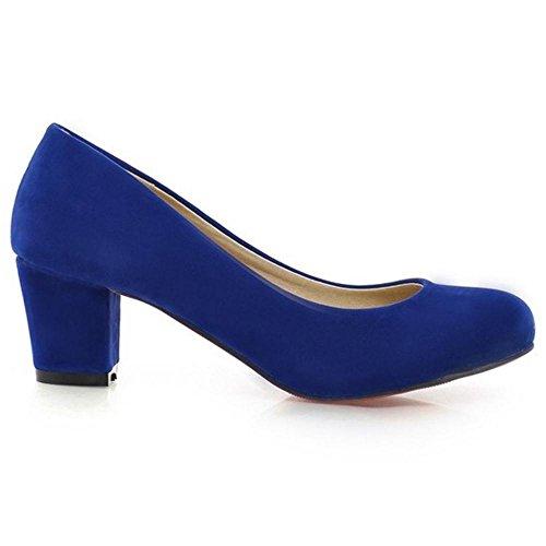 Pumps KemeKiss Women Blue Chunky Heel YwwqxvPaS