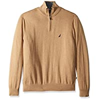 Deals on Nautica Mens Long Sleeve Quarter-Zip Sweater