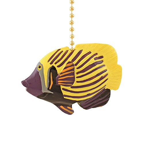 Emparada Tropical Fish TiKi Nursery Ceiling Fan Light Pull by Clementine (Fish Ceiling Fan Pull)
