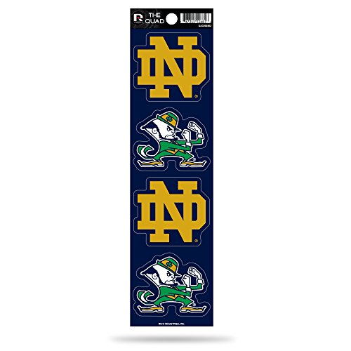 Rico Industries NCAA Notre Dame Fighting Irish Die Cut 4-Piece The Quad Sticker Sheet