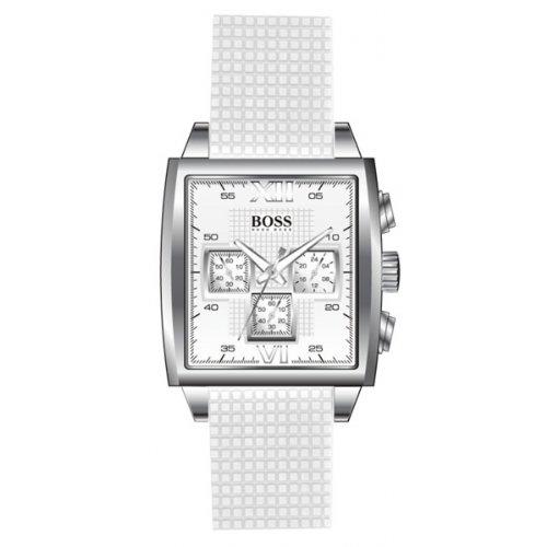 b17eee629782c Hugo Boss Women s Watch 1502208 Analogue Quartz White Dial White  Polyurethane Strap  Amazon.co.uk  Watches