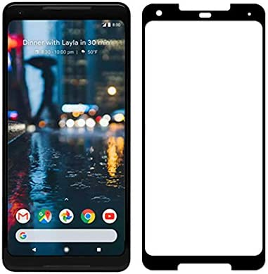 Pixel 2XL Tempered Glass Screen Protector, Case Friendly Real Curved Tempered Glass HD Clear Bubble Free 9H Hardness Tempered Glass for Google Pixel 2