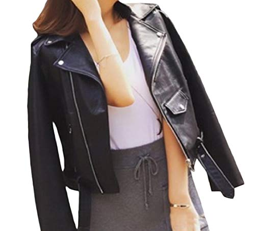 Down Jacket Black Long Fitted Women's Sleeve Energy Coat Pocketed Turn Stylish Collar Zip xBqIpw7v
