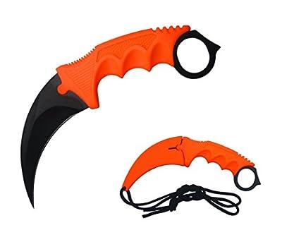 DevilFish New Hawkbill Karambit Neck Knife Orange