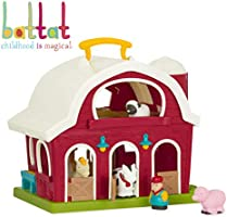 Deal on Battat - Big Red Barn - Animal Farm Playset for Toddlers 18m+ (6 Pieces)