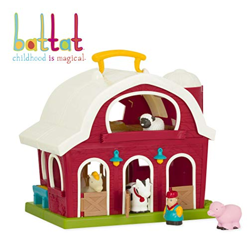 Battat - Big Red Barn - Animal Farm Playset for Toddlers 18M+ (6Piece)