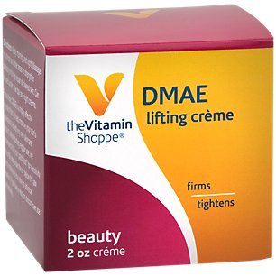 The Vitamin Shoppe DMAE Beauty Crème, Lighting Crème that Firms Tightens Skin, Aloe Vera Creme (2 Ounces Cream)