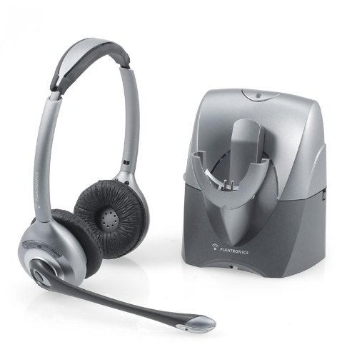 Plantronics CS361n Binaural Wireless Office Headset System For Telephone (Certified Refurbished)