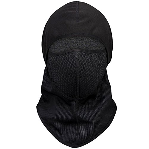 Protective Balaclava (Balaclava, NATUCE Motorcycle Face Mask Protective Gear Headwear, Ski Masks For Cold  Winter Weather - Black)