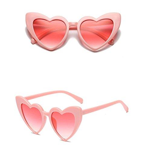 Soleil Vacance Femmes Design de de Lunettes pour B Couleur Coeur Rétro Lunettes RFIwqC