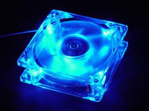 Ventilador Autolizer Sleeve Bearing 80mm  Blue Quad 4-LEDs)