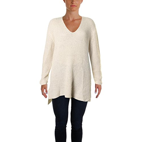 Mohair Blend Sweater (Two by Vince Camuto Womens Mohair Blend Metallic Tunic Sweater Ivory M)