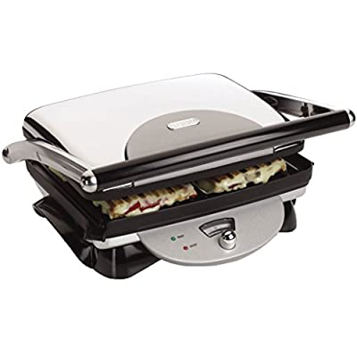 Delonghi Panini Press & Contact Grill with Large NON-STICK Cooking Surface, Adjustable Thermostat and Convenient Storage