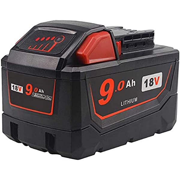 Tenmore 18v 9 0ah M18 Replacement Battery Compatible With Milwaukee M18 18volt 48 11 1815 48 11 1860 48 11 1890 Cordless Tools Amazon Com