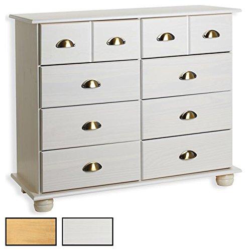 Apothekerkommode-Kommode-Apothekerschrank-Sideboard-COLMAR-8-Schubladen-Farbauswahl