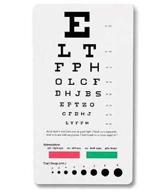 NCD Medical/Prestige Medical 3909 - Tabla optométrica Snellen de bolsillo