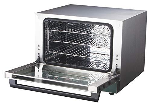 Winco ECO-250, 0.8 Cu.Ft Quarter-Size Countertop Convection Oven, 120V~60Hz, 1440W, 12A, ETL, Dual-Pane Tempered Glass, Quiet Convection Oven