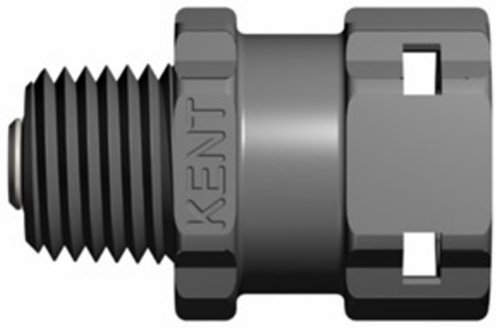 Kent Systems 3AXA16-009 Gray Acetal/Nylon Collection, 3 Shut-Off Tube Fitting, Quick Coupling, 1/4