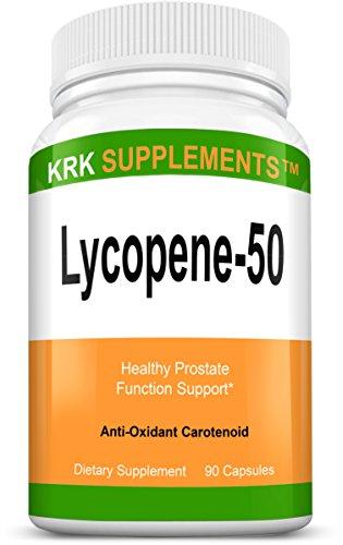 1 Bottle Lycopene 50mg 90 Capsules KRK Supplements by KRK SUPPLEMENTS
