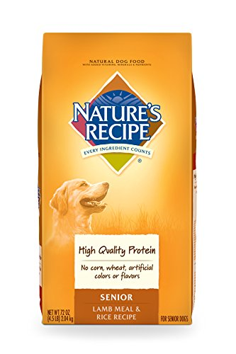Nature's Recipe Senior Dog Food, Lamb Meal & Rice Recipe, 4.5-Pound
