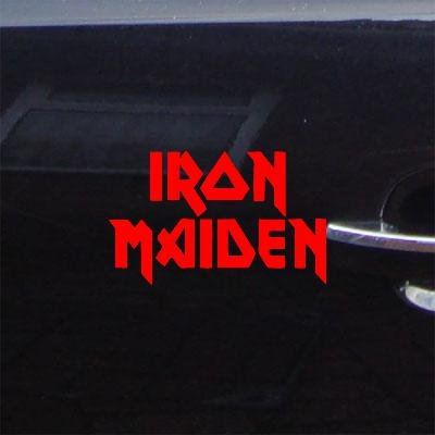 AUTO DECORATION ADHESIVE VINYL CAR CAR IRON MAIDEN MACBOOK RED ART METAL ROCK BAND HOME DECOR STICKER DECAL WINDOW LAPTOP (Iron Maiden Window Decal compare prices)