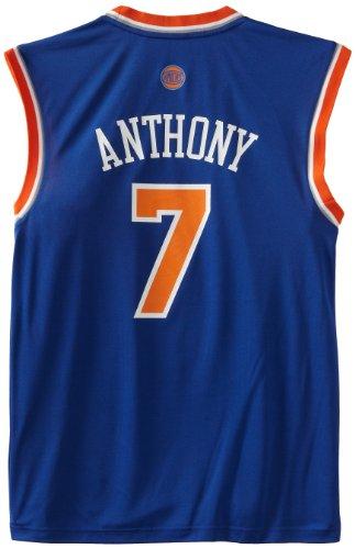 Nba New York Knicks Blue Replica Jersey Carmelo Anthony  7  Xx Large