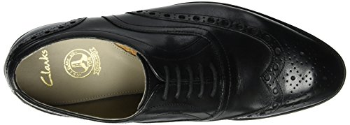 Clarks Twinley Limit, Zapatos de Vestir para Hombre Negro (Black Leather)