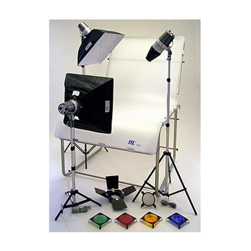 Photo Box Still Life Light - JTL TL 480 Still Life Photo Table Kit with Table, Monolights & Softboxes & Light Stands.