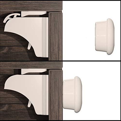 Hoffenbach® Germany Magnetische kinderbeveiliging met montagehulp 12 + 3 stuks, kastbeveiliging 3 m om te plakken…