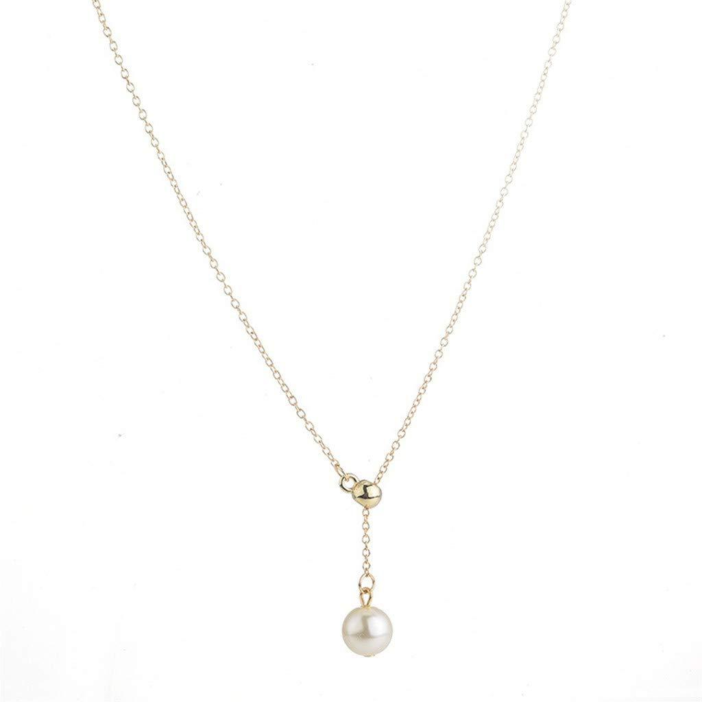 nanzhushangmao Fashion Single Pearl Choker Necklace for Women Handmade Pendant Jewelry Gift Sterling Silver Single Pearl Choker Chain
