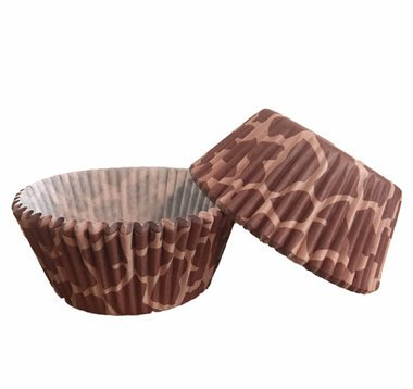 25 PC Giraffe and Animal Print Cupcake Wrappers from Bakell -