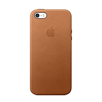 the best attitude de6d8 bd4e8 Apple Leather Case (For iPhone SE) - Saddle Brown: Amazon.co.uk ...