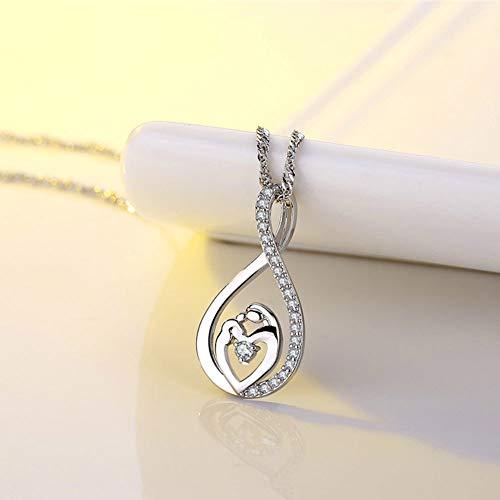 CS-DB Pendants Diamond Girl Collares Silver Necklaces
