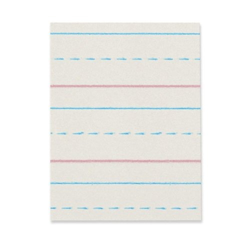 Everett Pad & Paper Broken Midline Writing Paper, Grade 3, 1/2