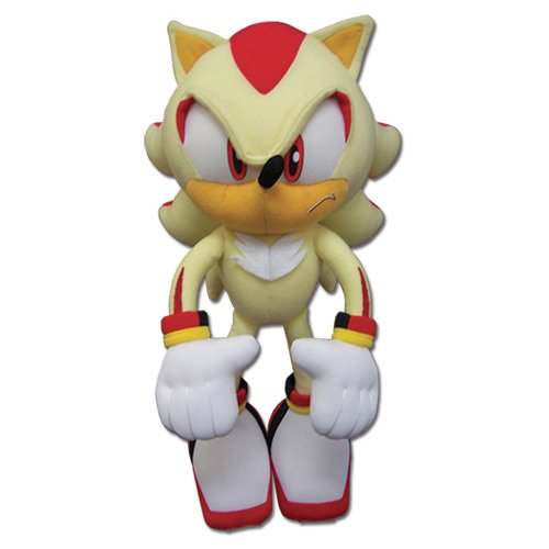 GE Animation Great Eastern GE-52631 Sonic The Hedgehog Super Shadow Stuffed Plush, 12