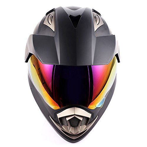 Dual Sport Helmet Motorcycle Full Face Motocross Off Road Bike Matt Black by 1Storm (Image #5)