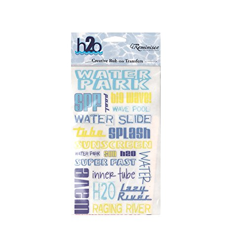 123-Wholesale - Set of 48 Water Park Creative Rub-on Transfers - Scrapbooking Rub-ons by 123-Wholesale