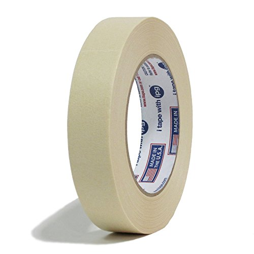 Intertape 513 Utility Grade Paper Masking Tape - 1 Inch X 60 Yards - Natural Beige Color - 36 rolls per order